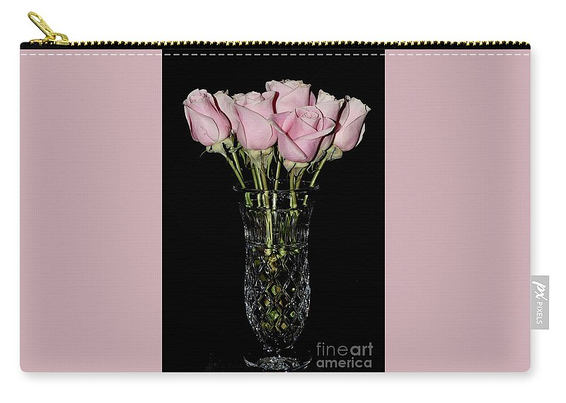 Artl Carry-all Pouch featuring the photograph Sweetheart Roses by Jeannie Rhode