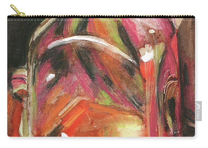 Glass Carry-all Pouch featuring the painting Sweetness by Trina Teele