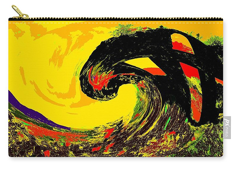 Abstract Carry-all Pouch featuring the photograph Swept Away by Ian MacDonald