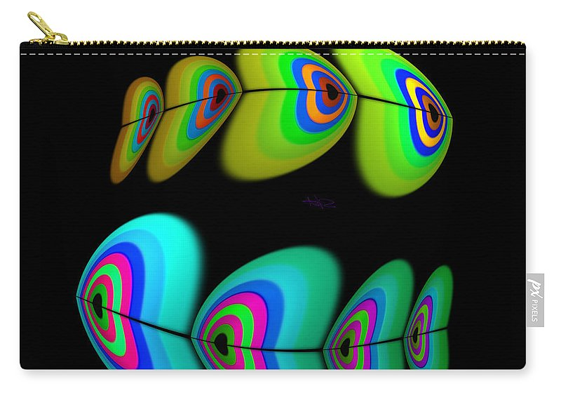 Shoal Carry-all Pouch featuring the digital art Swim by Charles Stuart