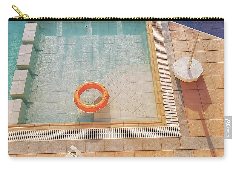 Water Carry-all Pouch featuring the photograph Swimming Pool by Cassia Beck