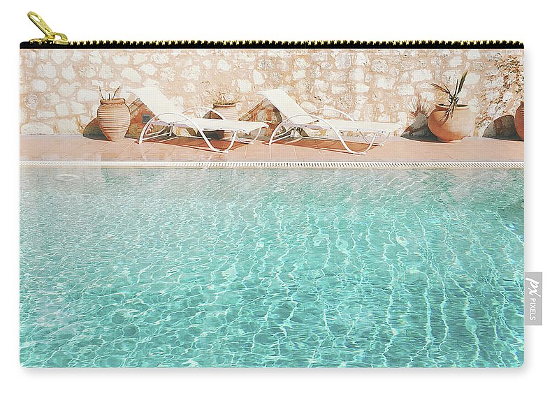 Water Carry-all Pouch featuring the photograph Swimming Pool V by Cassia Beck