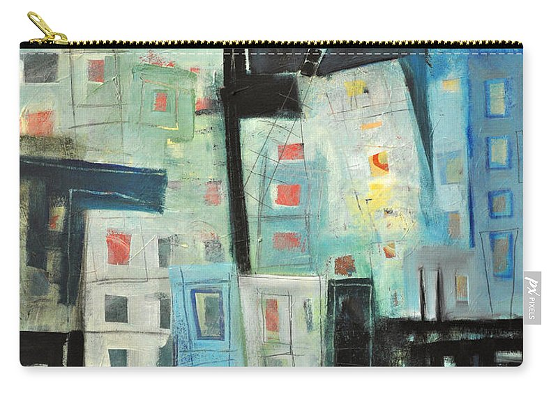 Buildings Carry-all Pouch featuring the painting Swing Shift by Tim Nyberg
