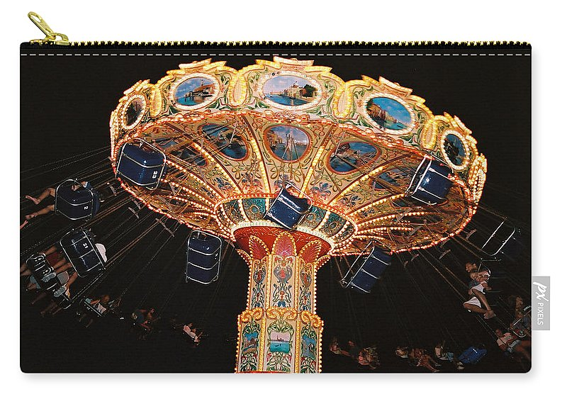 Boardwalk Carry-all Pouch featuring the photograph Swing by Steve Karol