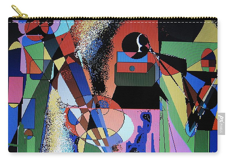 Jazz Carry-all Pouch featuring the digital art Swinging Trio by Ian MacDonald
