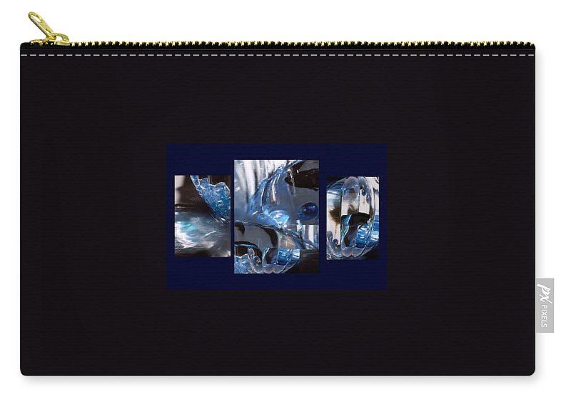 Abstract Of Betta In A Bowl Carry-all Pouch featuring the photograph Swirl by Steve Karol