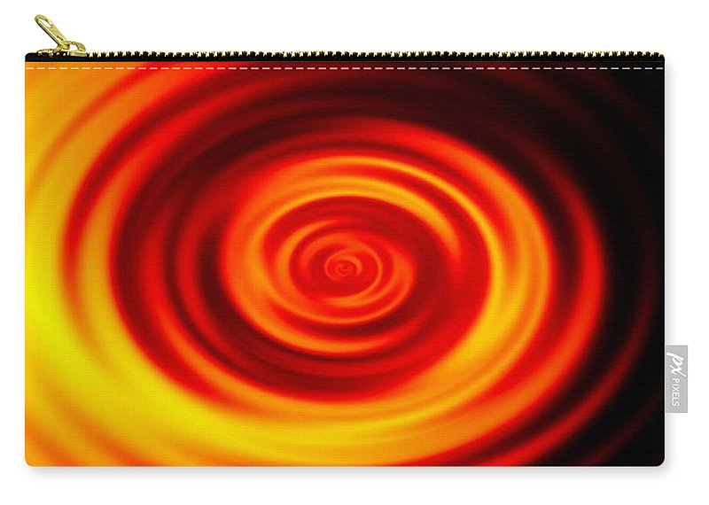 Swirled Carry-all Pouch featuring the digital art Swirled Sunrise by Rhonda Barrett