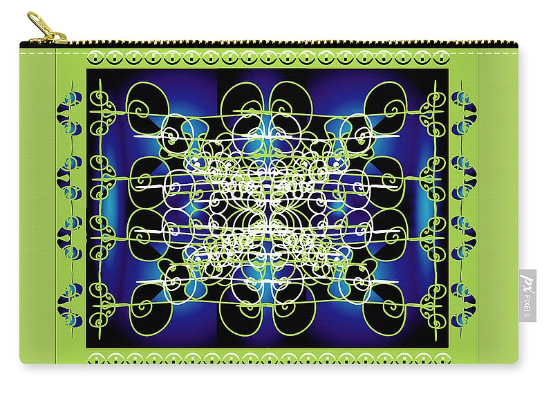 Abastract Carry-all Pouch featuring the digital art Swirling 1 by George Pasini