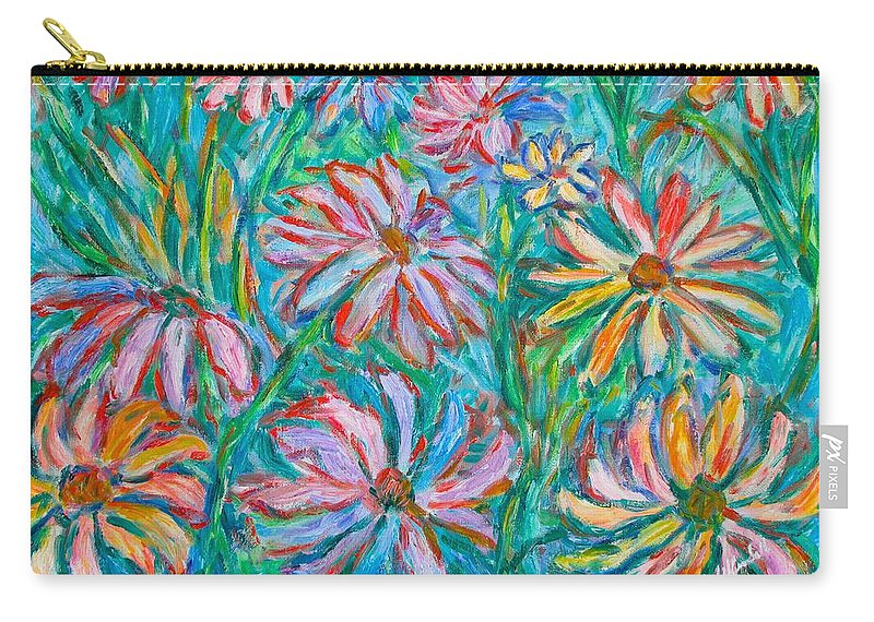 Impressionist Carry-all Pouch featuring the painting Swirling Color by Kendall Kessler