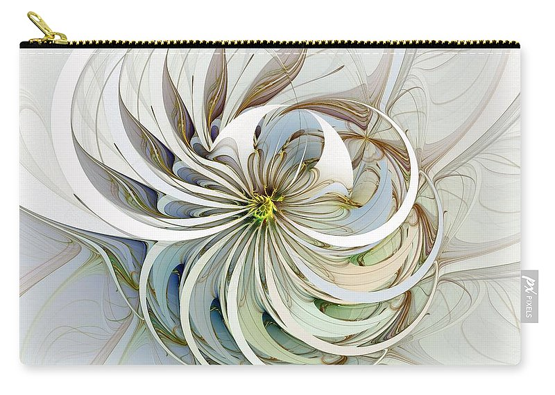 Digital Art Carry-all Pouch featuring the digital art Swirling Petals by Amanda Moore