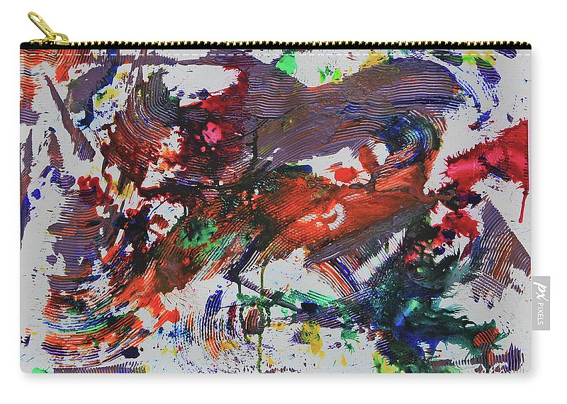 Abstract Art Carry-all Pouch featuring the painting Swirling by Robert W Dunlap