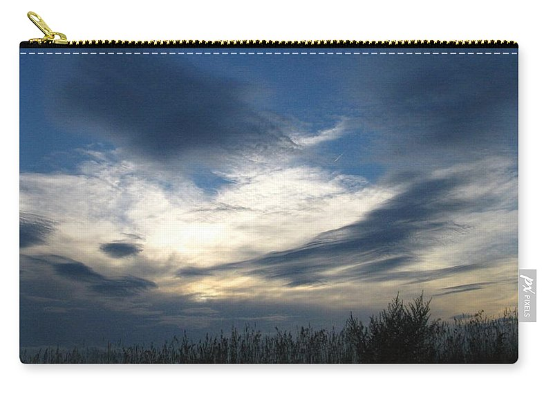 Sky Carry-all Pouch featuring the photograph Swirling Skies by Rhonda Barrett