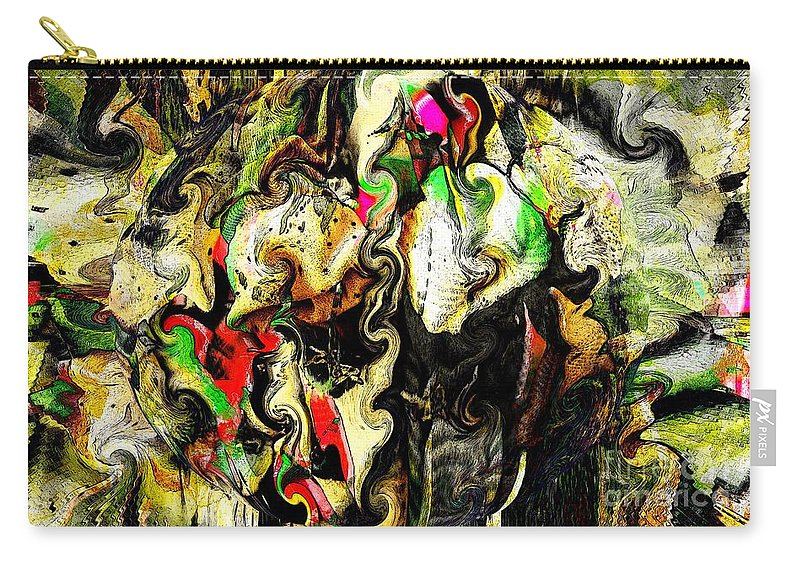 Abstract Carry-all Pouch featuring the digital art Swirling Socks by Ron Bissett