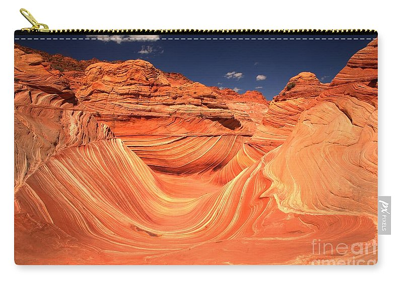 The Wave Carry-all Pouch featuring the photograph Swirls And Buttes At The Wave by Adam Jewell