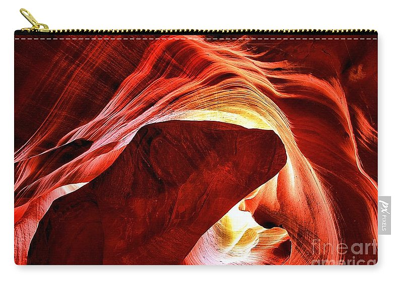 Abstract Carry-all Pouch featuring the photograph Swirls Of Fire by Adam Jewell