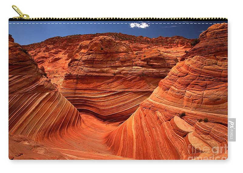 The Wave Carry-all Pouch featuring the photograph Swirls Waves And Buttes by Adam Jewell