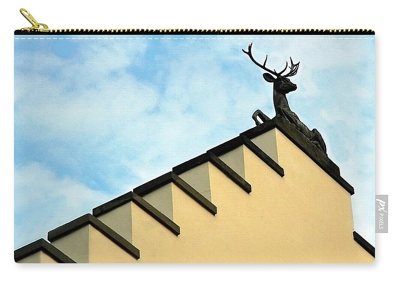 Europe Carry-all Pouch featuring the photograph Swiss Deer On Zurich Rooftop by Ginger Wakem