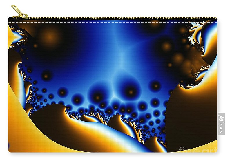 Fractal Art Carry-all Pouch featuring the digital art Swiss Lightning by Ron Bissett