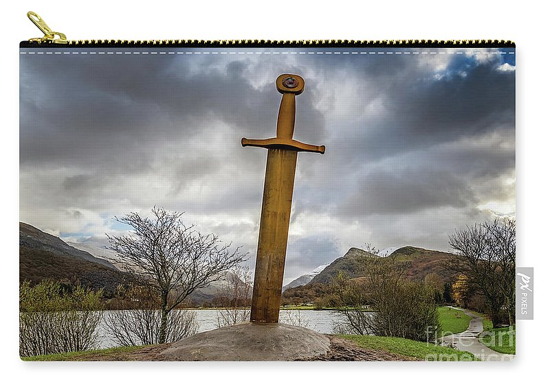Llanberis Sword Carry-all Pouch featuring the photograph Sword Of Llanberis Snowdonia by Adrian Evans