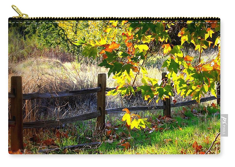 Fall Leaves Carry-all Pouch featuring the photograph Sycamore Grove Series 11 by Carol Groenen