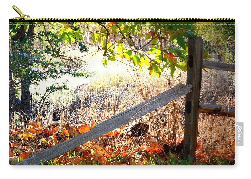 Fence Carry-all Pouch featuring the photograph Sycamore Grove Series 8 by Carol Groenen