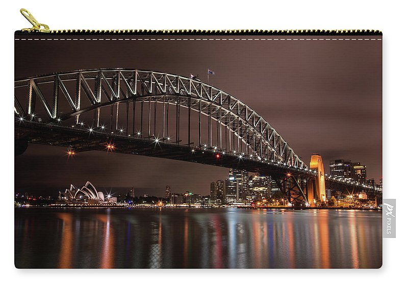 Sydney Carry-all Pouch featuring the photograph Sydney Harbor At Night by John Daly