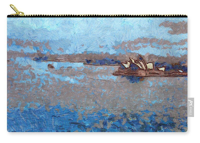 Sydney Opera House Carry-all Pouch featuring the photograph Sydney Opera House From A Distance by Ashish Agarwal