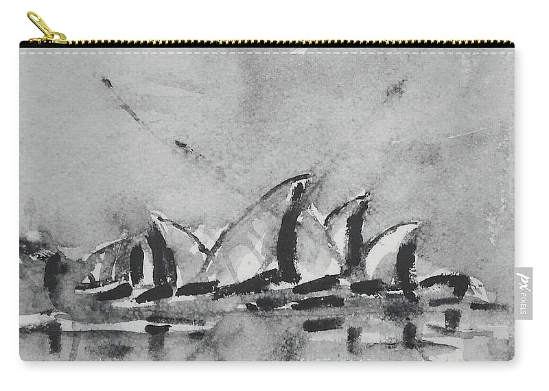 Sydney Carry-all Pouch featuring the painting Sydney by Springtime Seventy Eight
