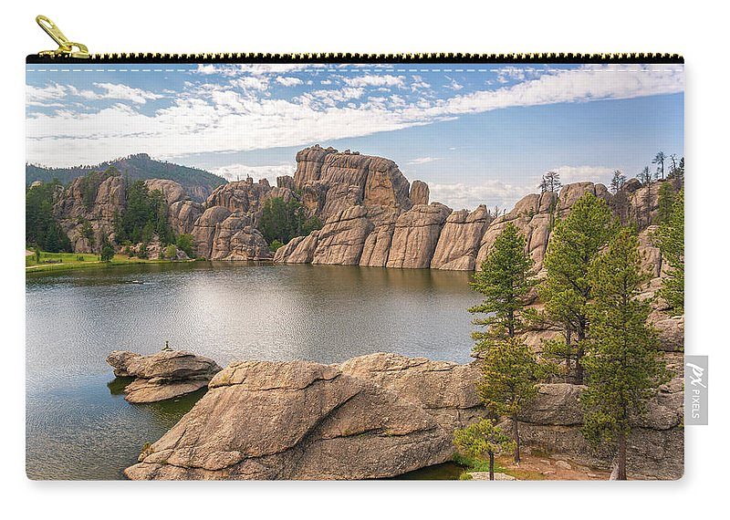 South Dakota Carry-all Pouch featuring the photograph Sylvan Lake View by Jess Kraft