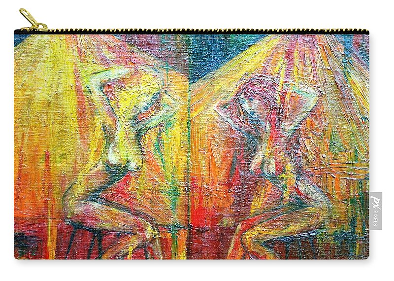 Colour Carry-all Pouch featuring the painting Symmetry by Wojtek Kowalski