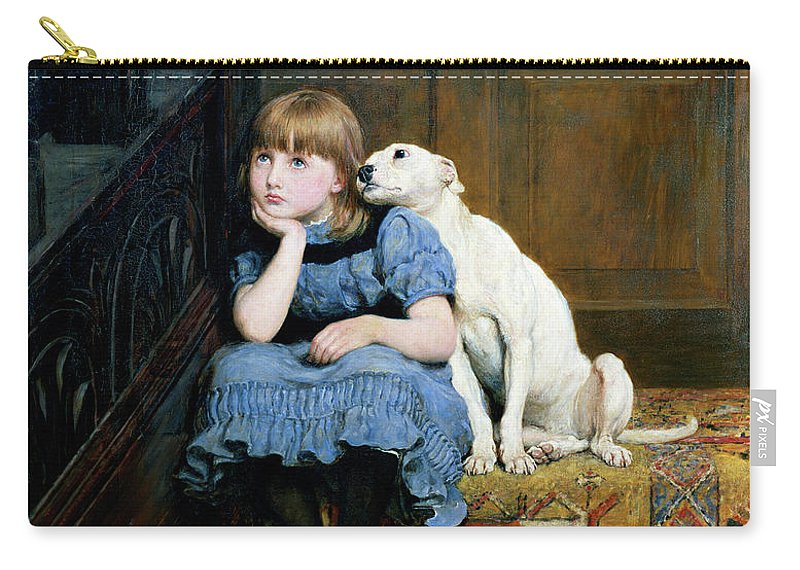 Sympathy Carry-all Pouch featuring the painting Sympathy by Briton Riviere