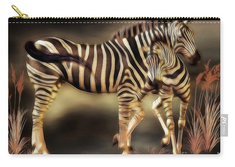 3d Carry-all Pouch featuring the digital art Sympathy by Jutta Maria Pusl
