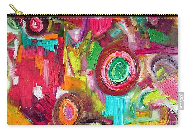 Symphony Carry-all Pouch featuring the painting Symphony by Dawn Hough Sebaugh
