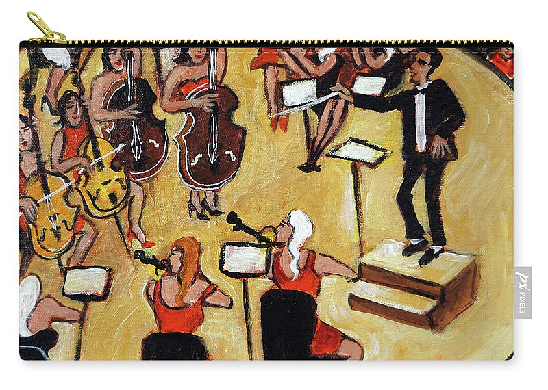 Carnegie Hall Orchestra Carry-all Pouch featuring the painting Symphony by Valerie Vescovi