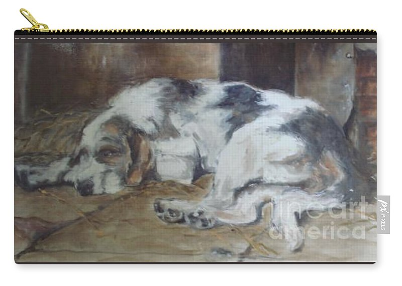 Realistic Carry-all Pouch featuring the painting Sympothy 2 by Rushan Ruzaick