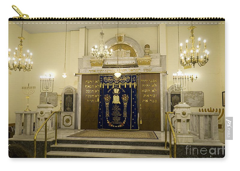 Thessaloniki Carry-all Pouch featuring the photograph Synagogue, Thessaloniki by Moshe Torgovitsky