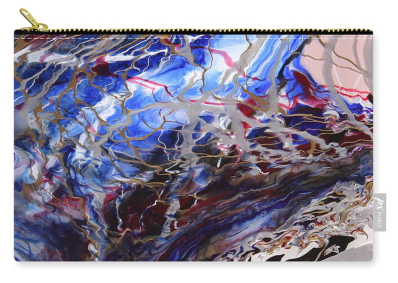 Fusionart Carry-all Pouch featuring the painting Synapse by Ralph White