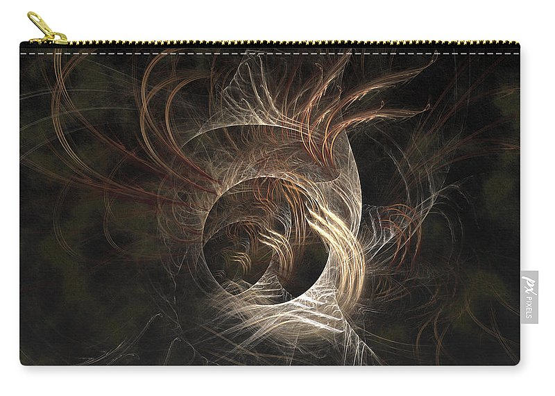 Abstract Carry-all Pouch featuring the digital art Synaptic by Casey Kotas
