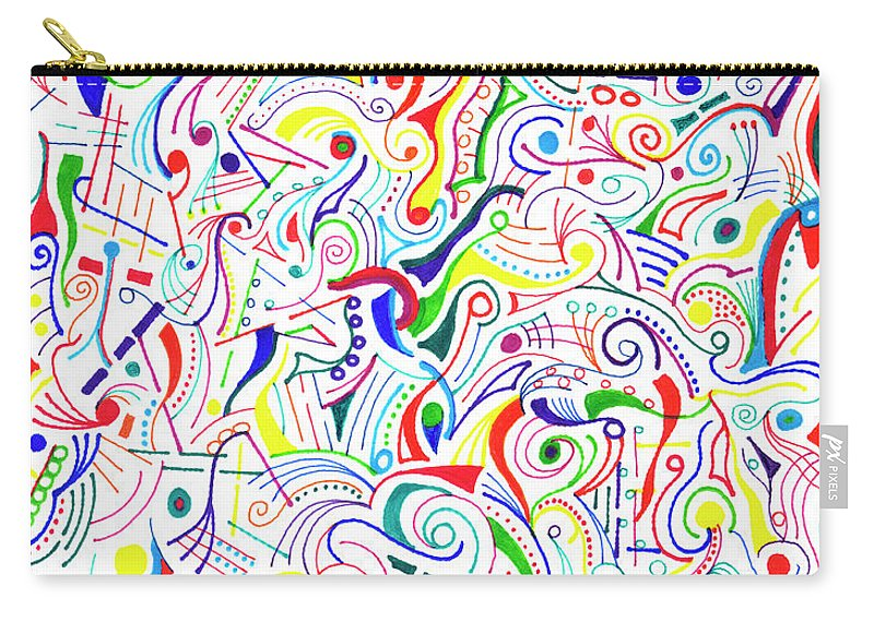 Mazes Carry-all Pouch featuring the drawing Synesthesia by Steven Natanson