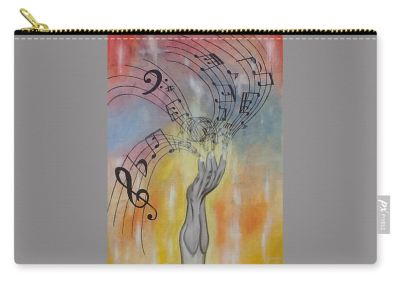 Carry-all Pouch featuring the painting The Composer by Reginald Henry