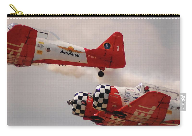 T6 Carry-all Pouch featuring the digital art T6 Aerobatics II by DigiArt Diaries by Vicky B Fuller