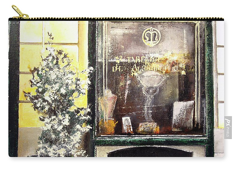 Old Carry-all Pouch featuring the painting Taberna Del Alabardero-madrid by Tomas Castano
