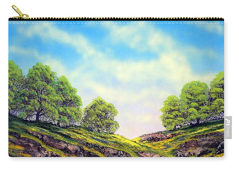Mountains Carry-all Pouch featuring the painting Table Mountain by Frank Wilson