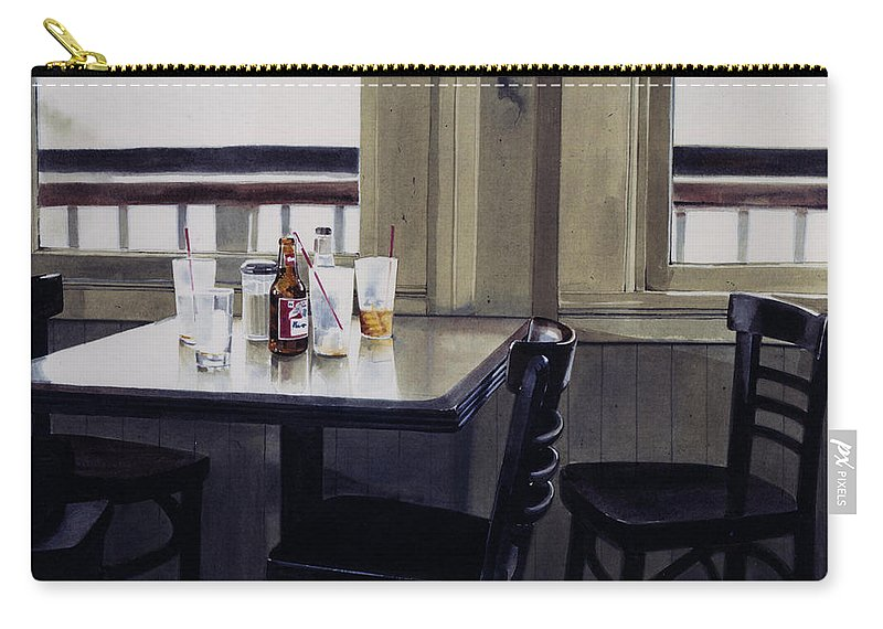 Beer Carry-all Pouch featuring the painting Table Setting by Denny Bond