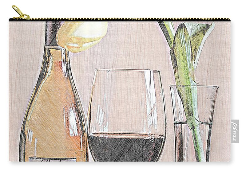 Table Carry-all Pouch featuring the photograph Table Setting For One by Sherry Hallemeier