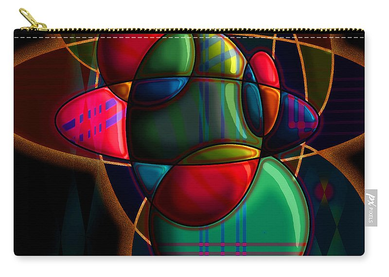 Modern Carry-all Pouch featuring the digital art Tactile Space I by Stephen Lucas