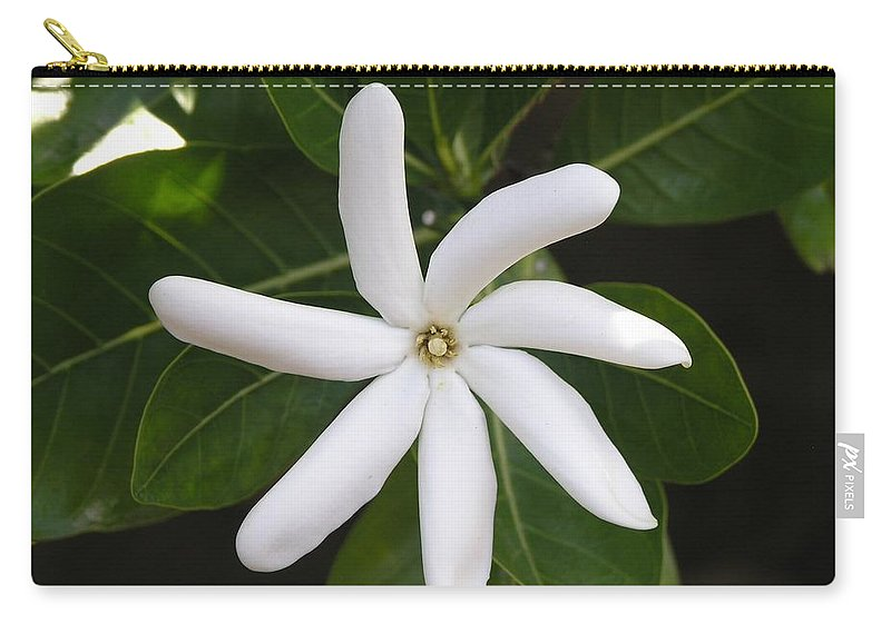 Flowers Carry-all Pouch featuring the photograph Tahiti Tiare 1 by Mary Deal