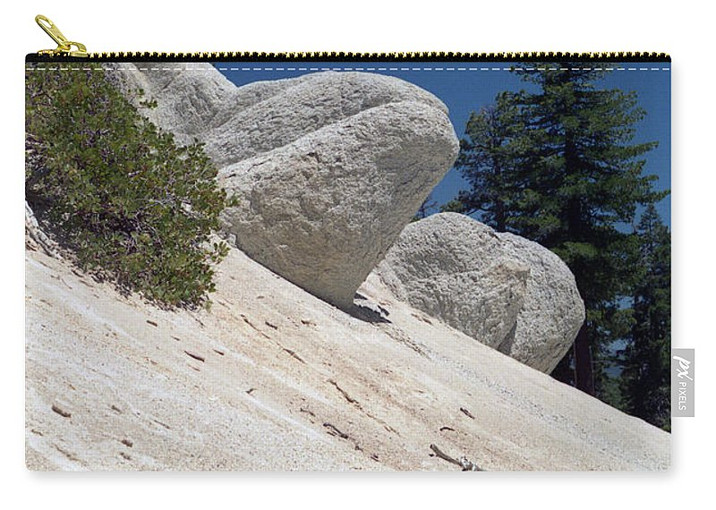 Abstract Carry-all Pouch featuring the photograph Tahoe Rocks by Richard Rizzo
