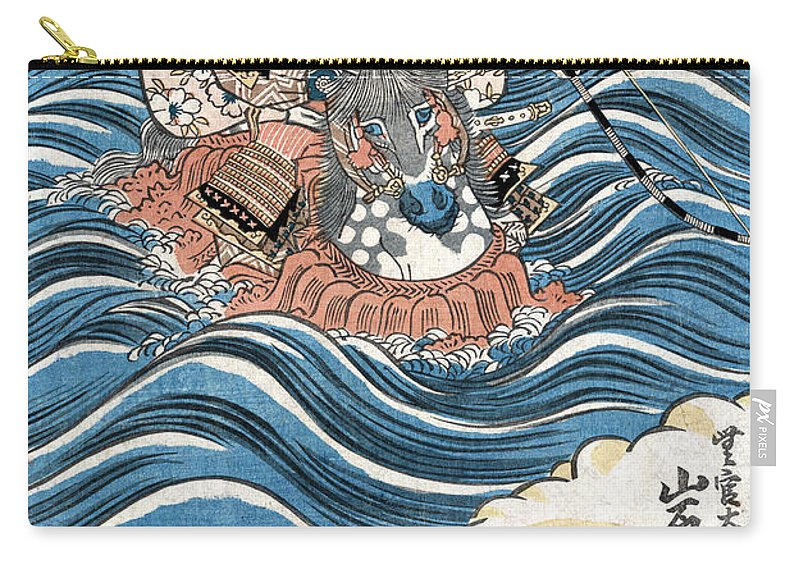 12th Century Carry-all Pouch featuring the photograph Taira Atsumori (1169-1184) by Granger