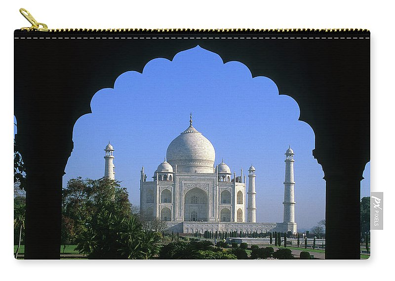 Taj Mahal Carry-all Pouch featuring the photograph Taj Mahal by Steve Williams